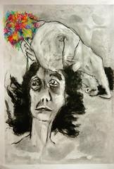 (Alemwa) Tags: alemwa berlin kreuzberg zeichnen zeichnennachmodell portrait lifedrawing sketching coal kohle collage mensch human geschichte story