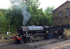 KWVR Haworth West Yorkshire 24th June 2017 (loose_grip_99) Tags: kwvr haworth west yorkshire june 2017 england uk railway railroad rail train steam engine locomotive riddles wd austerity 280 90733 transportation preservation gassteam uksteam trains railways shed depot prep