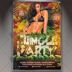 Jungle Party - Premium Flyer PSD Template (psdmarket) Tags: amazon fresh fun girl holiday hot junglefever nightparty poster print sexy summer sun sunset template wild wildness