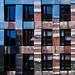 Reflective weave (Ulrich Neitzel) Tags: architecture architektur facade fassade fenster hamburg mzuiko1250mm metal metallic olympusem5 reflection spiegelung square window woven weave