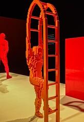 Step Ladder by Lego artist Nathan Sawaya (mharrsch) Tags: stepladder lego sculpture art nathansawaya artofthebrick exhibit omsi oregonmuseumscienceandindustry oregon mharrsch
