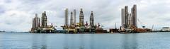 Galveston Bay (allen ramlow) Tags: galveston bay texas drilling platforms jackups summer travel sony a6500