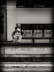 L'attesa (stefanonikon1) Tags: blackwhite street stazione station ostiense