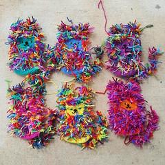 Six scrap yarn crochet cats to-be (crochetbug13) Tags: crochet crocheted crocheting crochetcat crochetcats amigurumicat amigurumicats scrapcat scrapcats scrapyarn scrapyarncrochet crochettoy