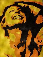Courtney (Yellow) by Lego artist Nathan Sawaya (mharrsch) Tags: courtney portrait yellow lego sculpture art nathansawaya artofthebrick exhibit omsi oregonmuseumscienceandindustry oregon mharrsch