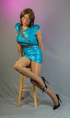 Curves & Angles! (kaceycd) Tags: crossdress tg tgirl lycra spandex minidress mesh seethrough seethru pantyhose pumps highheels stilettopumps stilettoheels sexypumps stilettos s