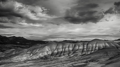 Looking back, looking forward (michellelynn) Tags: oregon paintedhills blackandwhite landscape