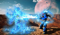 Shakahv VS Cossy (Ben Cossy) Tags: lego tfol afol moc cossy shakahv edit fire blue flame death makuta evil attack galaxus instant noodles bionicle hero factory mocpages hf lewa pohatu kopaka tahu onua gali