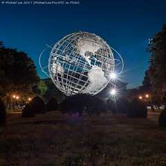 Unisphere (20170603-DSC03411-Edit) (Michael.Lee.Pics.NYC) Tags: newyork queens flushing flushingmeadowscoronapark unisphere worldsfair night twilight bluehour square symmetry sony a7rm2 nikon nikkor50mmaf18d