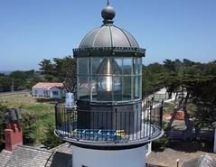 Point Pinos Lighthouse - the Lantern Room (El Kite Pics) Tags: kap kite aerial lighthouse pointpinos california usa pacificgrove monterey