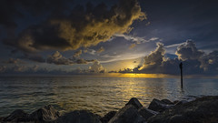 Sunset At Honeymoon Island State Park (clearlanding) Tags: florida honeymoonisland park dunedin sunset weather clouds gulfofmexico nikon d810 1635mm