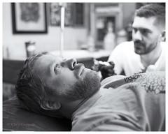 Tattoo time (SixthOrder) Tags: ilford 716 buffalo tattoo film hp5 leica nokton