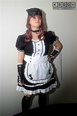 IMG_6942 (Neil Keogh Photography) Tags: apron black blouse cosplay cosplayer dokidokifestivalmanchester2016 dress female frenchmaid gloves highheels japanesemaid maidcafe mask skirt stocking sweetlolita tights white