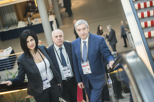 Vahan Martirosyan and the representatives of Armenia coming to the briefing