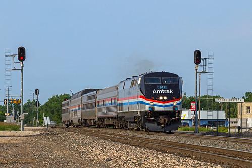 Amtrak 822 North at Britton