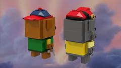 Baloo and Kit back (Oky - Space Ranger) Tags: lego brickheadz disney afternoon cartoon toon talespin baloo kit cloudkicker