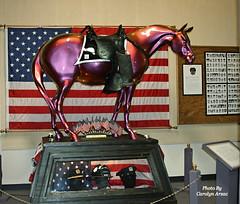 Fallen Heroes Memorial Pony (Carolyn Arzac) Tags: trailofthepaintedpony september11 2001 red memorial flickr nikon d90 horse photos