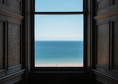 Room with a view (V Photography and Art) Tags: window view seaview beach sand sky panneling pov room minimalism blue northsea seaside vista seascape simplicity composition framing viewpoint