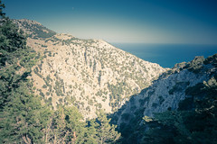 Imbros Gorge (A & A McKee) Tags: nikon d500 signa 1835 18 landscape mountrains sea sky blue libyan crete greece sfakia imbros gorge nature view wide trees high steep water