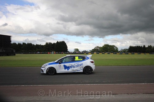 Lucas Orrock in the Renault Clio Cup during the BTCC weekend at Croft, June 2017