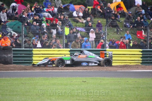 Zhao Cuo in British F4 during the BTCC weekend at Croft, June 2017