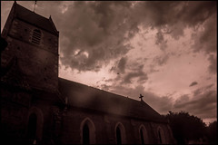 20160824-166 (sulamith.sallmann) Tags: religion blur building church cotentin effect effekt filter folientechnik france frankreich gebäude kirche lahague manche monochrom normandie unscharf fra sulamithsallmann
