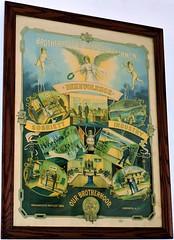 Vintage Brotherhood of Railroad Trainmen poster (Will S.) Tags: mypics brotherhoodofrailroadtrainmen poster vintage advertising union labourunion capebreton novascotia canada sydneylouisburgrailwaymuseum louisbourg map