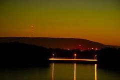 Dusk (Photolove2017) Tags: ottawagatineau bridge ottawariver ontario quebec canada colors lights landscape light poles hills dusk nikondx d3100 photolove2017 tiaphoto sunset