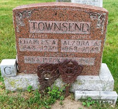 Townsend, Charles A.  1863 - 1930 (Hear and Their) Tags: grave marker stone gravestone tomb tombstone greenhill cemetery kingsville fraternal masonic oddfellow
