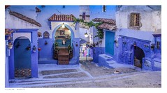 Chefchaouen شفشاون, Morocco, at night. (Richard Murrin Art) Tags: chefchaouenشفشاون morocco atnight richard murrin art photography canon 5d landscape travel images building cool
