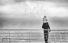 father (photoksenia) Tags: sea storm father waves splashing monochrome blackandwhite bw odessa ukraine family