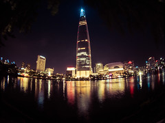 LWT Lake (Deibertography) Tags: korea lotteworldtower seoul southkorea city night sky skyscraper urban 롯데월드타워