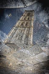 Riflessi campanile (mark23az) Tags: campanile giotto firenze florence italia italy street water acqua pozzanghera rain
