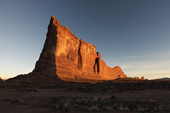 Never does nature say one thing and wisdom another… (ferpectshotz) Tags: moab utah courthouse towers archesnationalpark sunrise sandstone