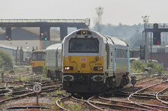 Through the summer heat: 67029 at Cardiff Central (Dai Lygad) Tags: summer weather heat warm trains shimmer haze uk wales cardiff railways railroads stock photos photographs photography images pictures jeremysegrott canon camera eos 550d 19thjune 2017 cardiffcentral unitedkingdom greatbritain 1v96 holyhead arrivatrainswales trenauarrivacymru class67 67029 db heatwave driver tracks canton heatwaveuk paysdegalles southtonorthwales transport travel hot freetouse attributionlicense attributionlicence forwebsite forwebpage forblog forpresentation forpowerpoint dailygad cymru caerdyddcanolog engines locohauled locomotivehauled railway flickr points pointwork geotagged exhaust front ccsearch mainline signals letrain lestrains transportation sweltering day world