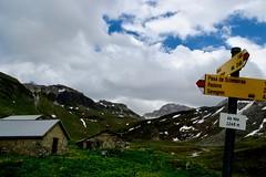 (Giramund) Tags: graubünden avers alp june clouds alpinehut sign signpost mountains alps hut switzerland hiking