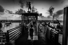 i sea you (tchia sheffer) Tags: boyalone boy boat sea bw canon port travelbyorsailinaboatsailaboattransportbyboatship