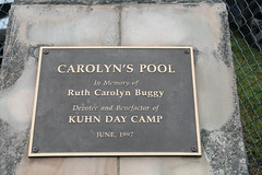 The new building is situated right beside Carolyn's Pool, donated in 1997 in memory of Ruth Carolyn Buggy by her husband Rodman Buggy. Both Mr. and Mrs. Buggy were longtime board members of College Settlement.