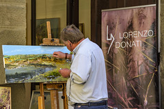 c'è chi dipinge ... (miriam ulivi OFF /ON) Tags: miriamulivi nikond7200 italia toscana cortona pittore quadro painter picture street