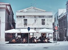 Sardinien (explored 20 june 2017) (sofjet) Tags: house exterior building grey sardegna sardinia sardinien italy italia italien mediterranean europe europa outdoor cafe people