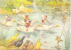 G- Ganzen (Patriciaa220 Postcrossing) Tags: abc seizoenen dieren ganzen margarettarrent lente