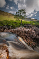The river ... (Einir Wyn Leigh) Tags: landscape river etive scotland clouds water waterfall rocks rugged mountains nikon tree colourful light uk