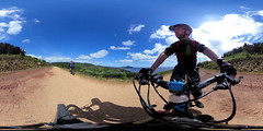 bike ride (»alex«) Tags: bike mtb bicycle cycling cyclist cube selfie ride trail arran scotland panorama 360x180 equirectangular 360degrees ricohtheta actioncam adventure journey landscape view holyisle whitingbay