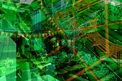 27 Boxes Green Architectural Abstract (Raphael de Kadt) Tags: abstract architecture green doubleexposure fujifilmxt2 fujinonxf16mm johannesburg gauteng melville 27boxes southafrica interior geometry