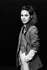 Isabella Lundgren (Hasse Linden) Tags: musician singer portrait woman blackandwhite studio onelight octabox