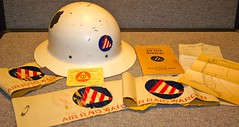 WW-2 U.S. Civil Defense (Pacific Kilroy) Tags: ww2 wwii us helmet sign emblem memorabilia artifacts card book manual airraid civildefense homefront warden idcard map armband 1943 airraidwarden