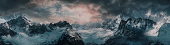 """""""Mountain pass"""" (L1netty) Tags: landscape mountains pc games gaming reshade screenshot clouds deck13 panorama lordsofthefallen sky snow nature outdoor videogame scenery 4k color pano mountainside"""