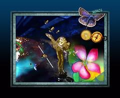Science and Art (mfuata) Tags: science bilim art sanat freedom özgürlük compass pusula astro uzay flower çiçek butterfly kelebek technology teknoloji
