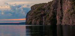 Bon Echo Park - After sunset (Rob Eyers) Tags: sunset canoe rockface cliff water
