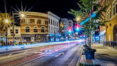 Covington at Night (jody.claborn) Tags: hdr d5500 vacation night lightroom nikon covington kentucky light trails taillights urban city brick architecture buildings easyhdr